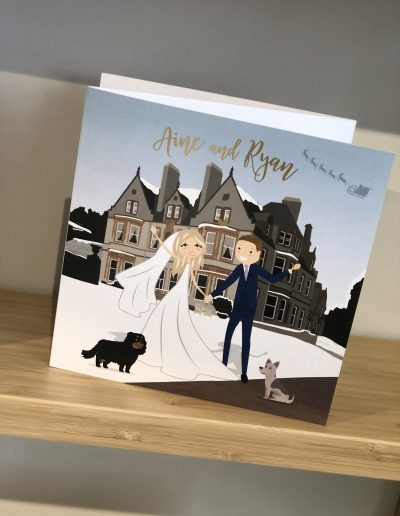 Aine and Ryan Venue Illustration with Characters
