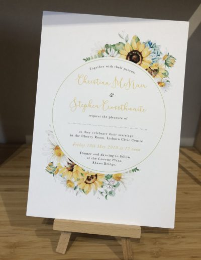 Christina and Stephen floral wedding invitation