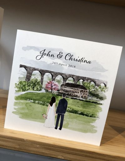 John and Christina Character watercolour illustration