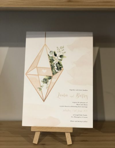 Laura and Barry Botanical wedding invitation