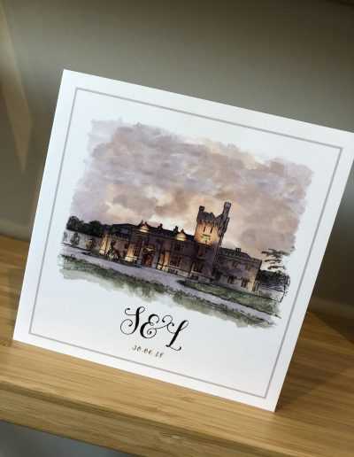 Lough Eske Watercolour Venue Illustration
