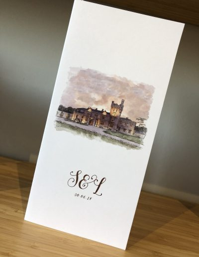 Lough Eske Watercolour Venue Illustration Order of Service
