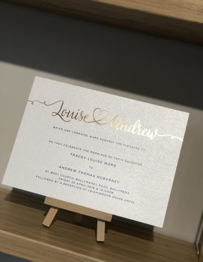 Louise and Andrew wedding invitation