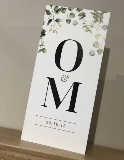 Orla and Martin Botanical Wedding invitation